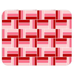 Pink Red Burgundy Pattern Stripes Double Sided Flano Blanket (medium)