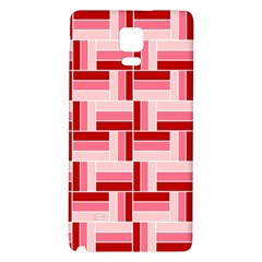 Pink Red Burgundy Pattern Stripes Galaxy Note 4 Back Case