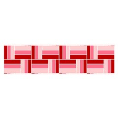 Pink Red Burgundy Pattern Stripes Satin Scarf (oblong) by Nexatart