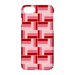 Pink Red Burgundy Pattern Stripes Apple Iphone 7 Hardshell Case by Nexatart