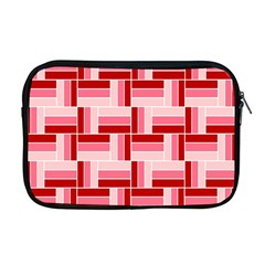 Pink Red Burgundy Pattern Stripes Apple Macbook Pro 17  Zipper Case