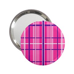 Gingham Hot Pink Navy White 2 25  Handbag Mirrors