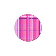 Gingham Hot Pink Navy White Golf Ball Marker (10 Pack)