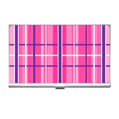 Gingham Hot Pink Navy White Business Card Holders