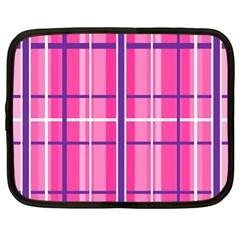 Gingham Hot Pink Navy White Netbook Case (xl)
