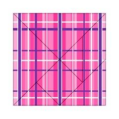 Gingham Hot Pink Navy White Acrylic Tangram Puzzle (6  X 6 )