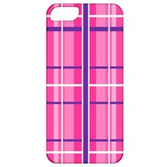 Gingham Hot Pink Navy White Apple Iphone 5 Classic Hardshell Case