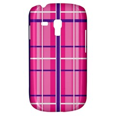 Gingham Hot Pink Navy White Galaxy S3 Mini