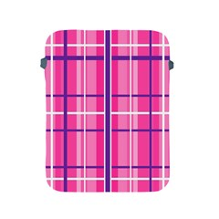 Gingham Hot Pink Navy White Apple Ipad 2/3/4 Protective Soft Cases