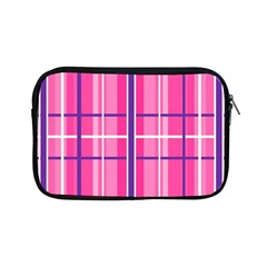 Gingham Hot Pink Navy White Apple Ipad Mini Zipper Cases