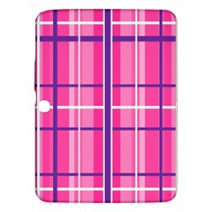 Gingham Hot Pink Navy White Samsung Galaxy Tab 3 (10 1 ) P5200 Hardshell Case