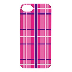 Gingham Hot Pink Navy White Apple Iphone 5s/ Se Hardshell Case
