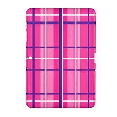 Gingham Hot Pink Navy White Samsung Galaxy Tab 2 (10 1 ) P5100 Hardshell Case