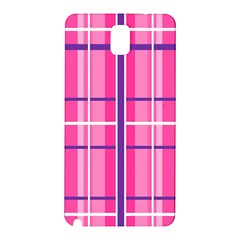 Gingham Hot Pink Navy White Samsung Galaxy Note 3 N9005 Hardshell Back Case