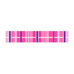 Gingham Hot Pink Navy White Flano Scarf (mini)