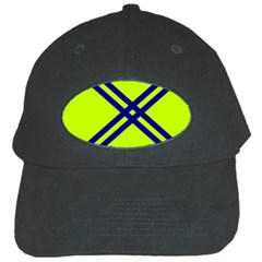 Stripes Angular Diagonal Lime Green Black Cap