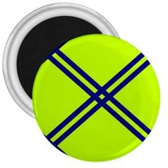 Stripes Angular Diagonal Lime Green 3  Magnets