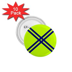 Stripes Angular Diagonal Lime Green 1 75  Buttons (10 Pack)