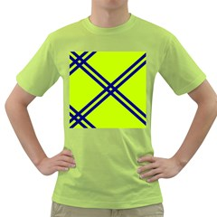 Stripes Angular Diagonal Lime Green Green T Shirt