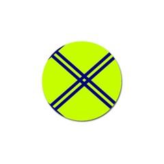 Stripes Angular Diagonal Lime Green Golf Ball Marker (10 Pack)