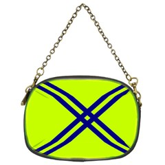 Stripes Angular Diagonal Lime Green Chain Purses (two Sides)