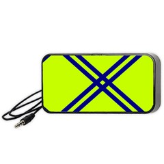 Stripes Angular Diagonal Lime Green Portable Speaker