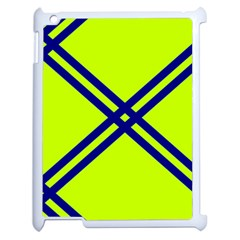 Stripes Angular Diagonal Lime Green Apple Ipad 2 Case (white)
