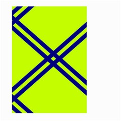 Stripes Angular Diagonal Lime Green Large Garden Flag (two Sides)