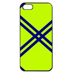 Stripes Angular Diagonal Lime Green Apple Iphone 5 Seamless Case (black)
