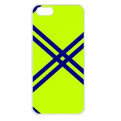 Stripes Angular Diagonal Lime Green Apple Iphone 5 Seamless Case (white)