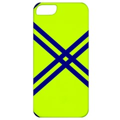 Stripes Angular Diagonal Lime Green Apple Iphone 5 Classic Hardshell Case