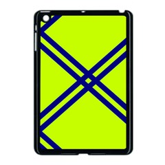 Stripes Angular Diagonal Lime Green Apple Ipad Mini Case (black)