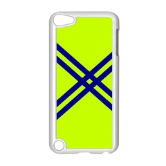 Stripes Angular Diagonal Lime Green Apple Ipod Touch 5 Case (white)