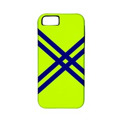 Stripes Angular Diagonal Lime Green Apple Iphone 5 Classic Hardshell Case (pc+silicone)