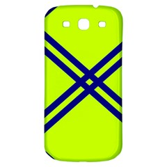 Stripes Angular Diagonal Lime Green Samsung Galaxy S3 S Iii Classic Hardshell Back Case