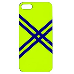 Stripes Angular Diagonal Lime Green Apple Iphone 5 Hardshell Case With Stand