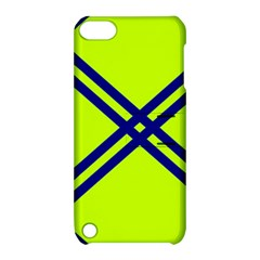 Stripes Angular Diagonal Lime Green Apple Ipod Touch 5 Hardshell Case With Stand
