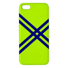 Stripes Angular Diagonal Lime Green Apple Iphone 5 Premium Hardshell Case