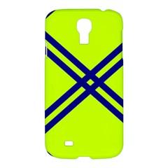 Stripes Angular Diagonal Lime Green Samsung Galaxy S4 I9500/i9505 Hardshell Case