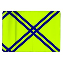 Stripes Angular Diagonal Lime Green Samsung Galaxy Tab 10 1  P7500 Flip Case