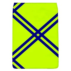 Stripes Angular Diagonal Lime Green Flap Covers (l)  by Nexatart