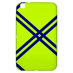 Stripes Angular Diagonal Lime Green Samsung Galaxy Tab 3 (8 ) T3100 Hardshell Case