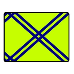 Stripes Angular Diagonal Lime Green Double Sided Fleece Blanket (small)