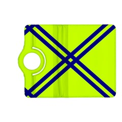 Stripes Angular Diagonal Lime Green Kindle Fire Hd (2013) Flip 360 Case