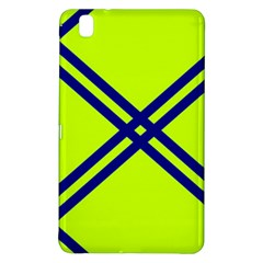 Stripes Angular Diagonal Lime Green Samsung Galaxy Tab Pro 8 4 Hardshell Case