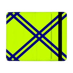 Stripes Angular Diagonal Lime Green Samsung Galaxy Tab Pro 8 4  Flip Case