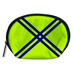 Stripes Angular Diagonal Lime Green Accessory Pouches (medium)