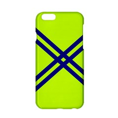 Stripes Angular Diagonal Lime Green Apple Iphone 6/6s Hardshell Case