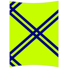 Stripes Angular Diagonal Lime Green Back Support Cushion by Nexatart