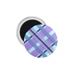 Diagonal Plaid Gingham Stripes 1 75  Magnets
